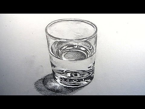 Sketch a glass of water