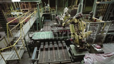 Robotic arms stock footage