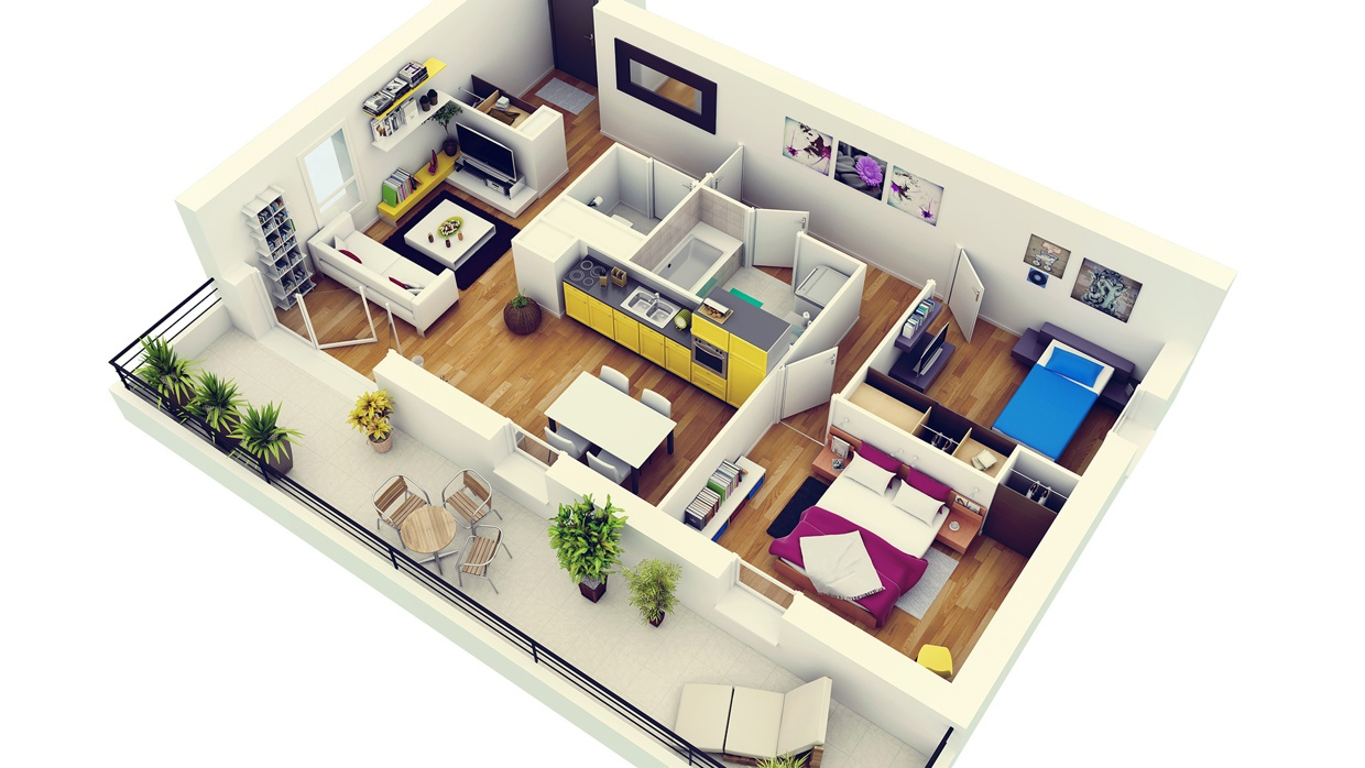 4-Modern-Two-Bedroom-Apartment-with-Balcony