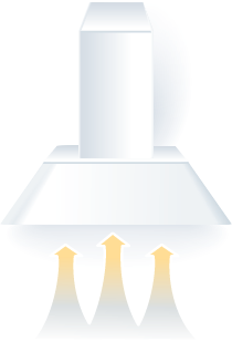 illustration of a range hood