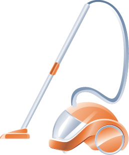 An icon image of a vacuum cleaner
