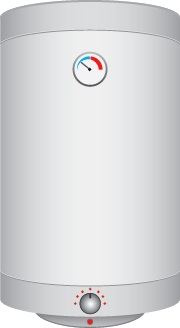 An icon image of a water heater tank.
