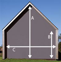 Gable end (triangle)
