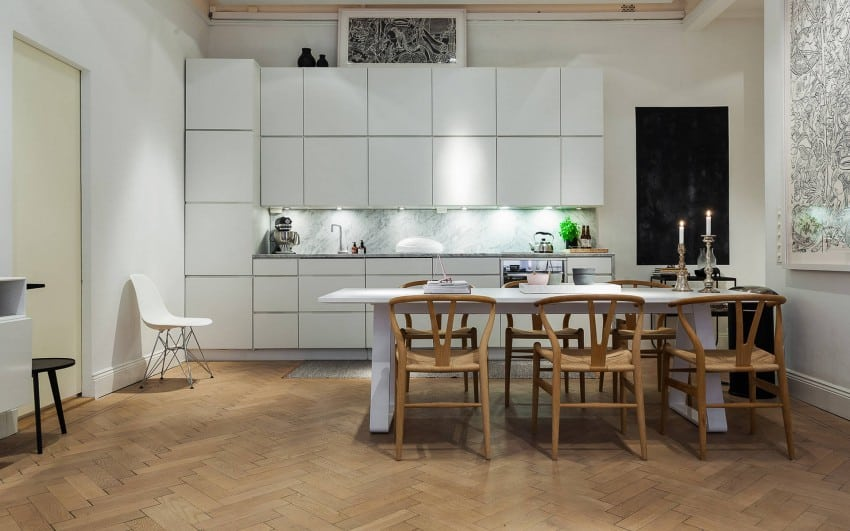 Kitchen and dining in Nordic style